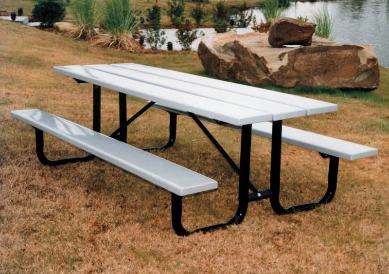 Vmwct8pp 8ft Plastic Picnic Table 2 Attached Seats Plasti Plank Tables Are Your Solution For Recycled Site Amenities With All Of The Desirable