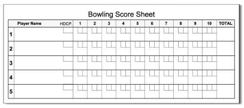 Bowling Score Pad  X  Sheets Notepad Guajolote Prints
