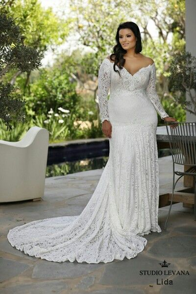 Mermaid Lace Plus Size Wedding Gown From Studio Levana