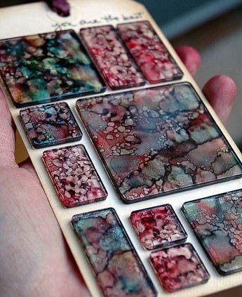 Marbled Alcohol Inks - tutorial #alcoholinkcrafts