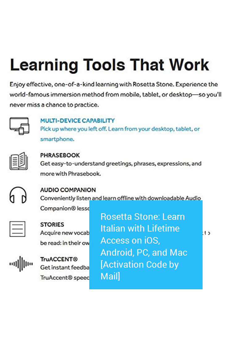 Rosetta Stone Learn Italian with Lifetime Access on iOS