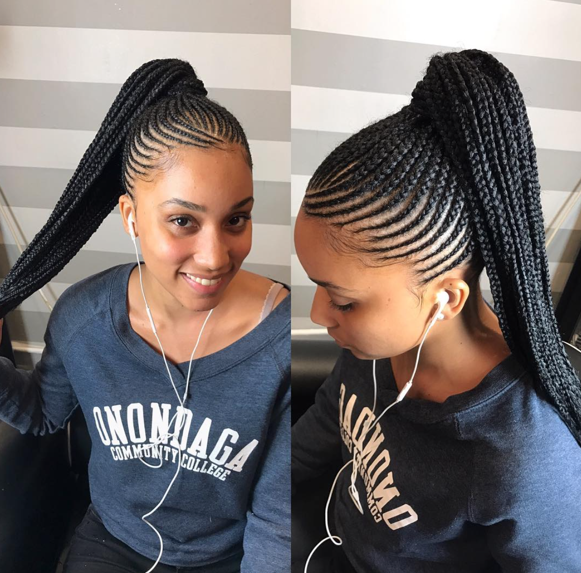 Beautiful Work By Handsnheartss Black Hair Information Cornrow Hairstyles Braided Ponytail Hairstyles Braids For Black Hair