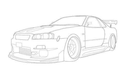 Drawing Skyline Gt R