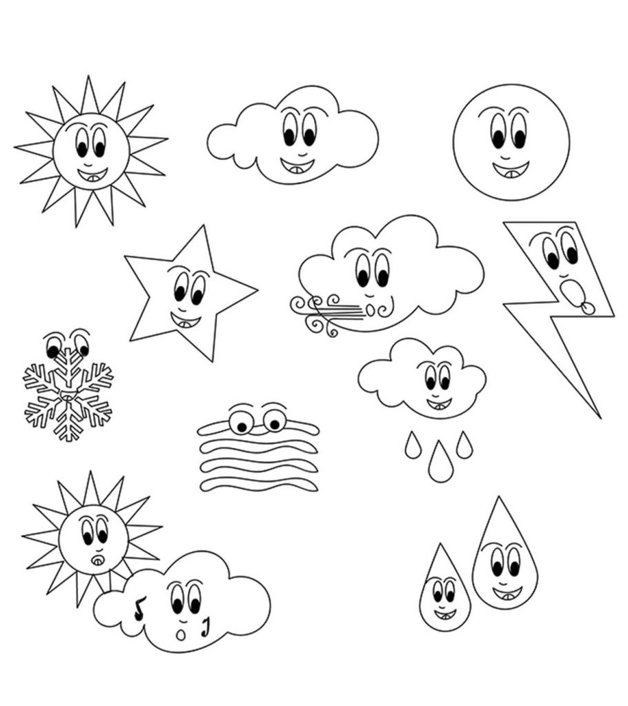 Top 10 Free Printable Weather Coloring Pages Online Coloring Pages Free Coloring Pages Spring Coloring Pages