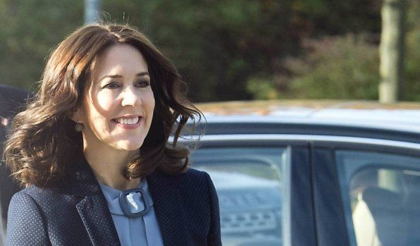 Crown Princess Mary attends a conference in Brondby