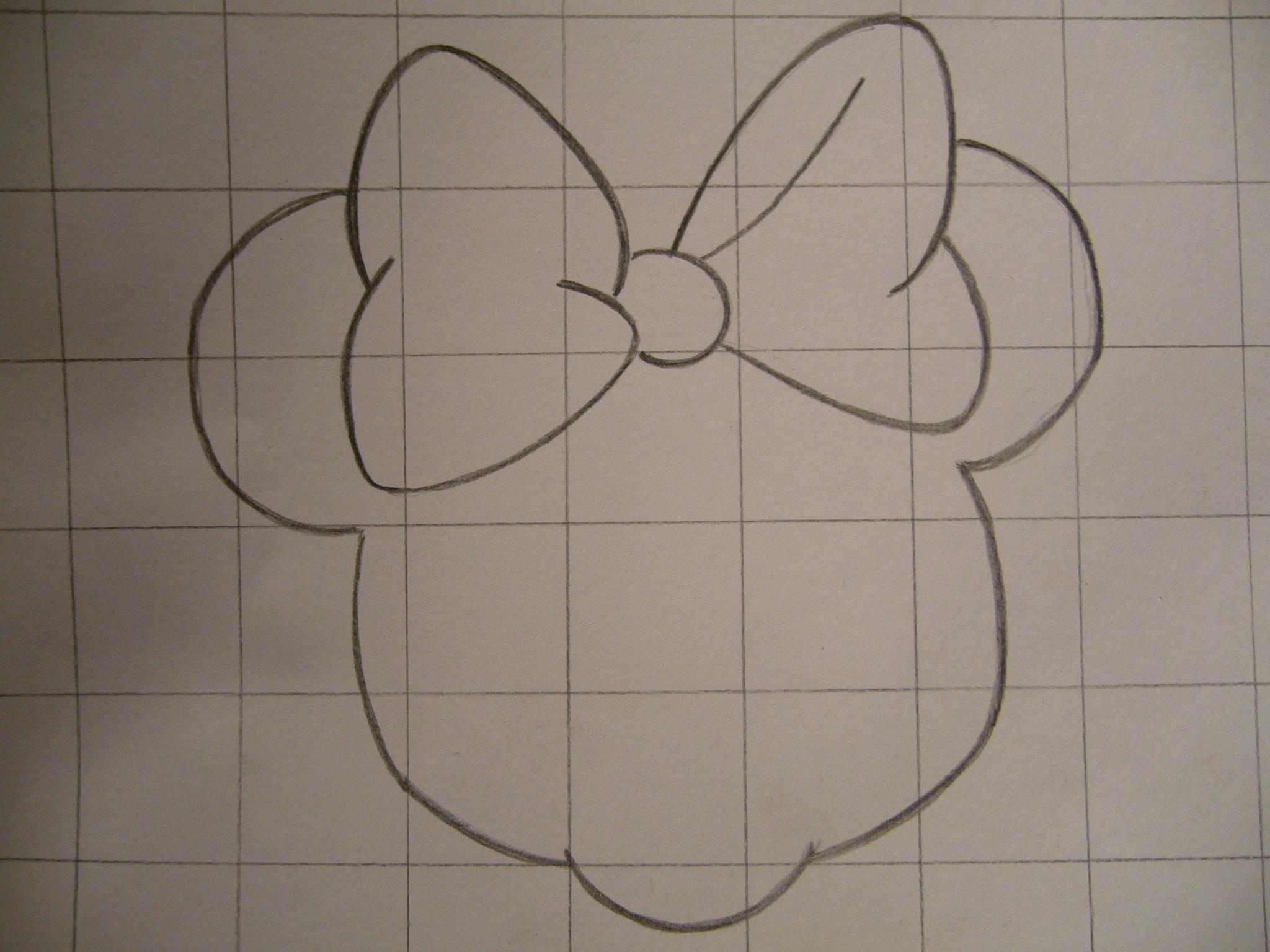Image Detail for - Paso 3 de 9 - Cómo dibujar la cara de Minnie Mouse