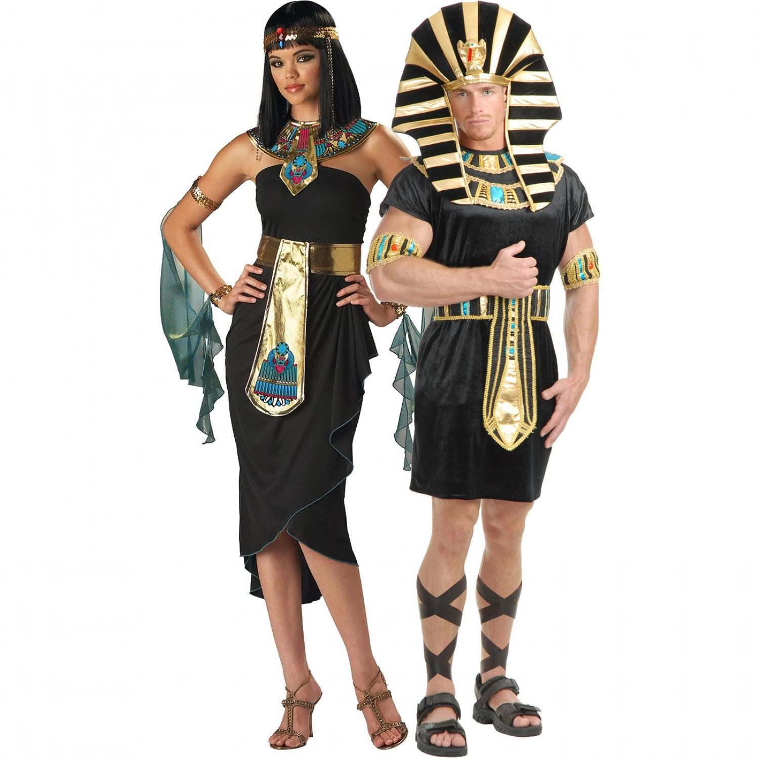 Cleopatra Black and King Tut Couples Halloween Costumes #Halloween ...