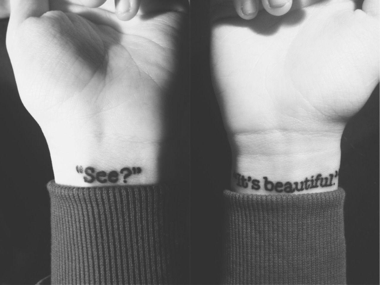 Wrist tattoo on zeyemy