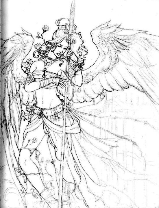 coloring pages of fallen angels - photo#13
