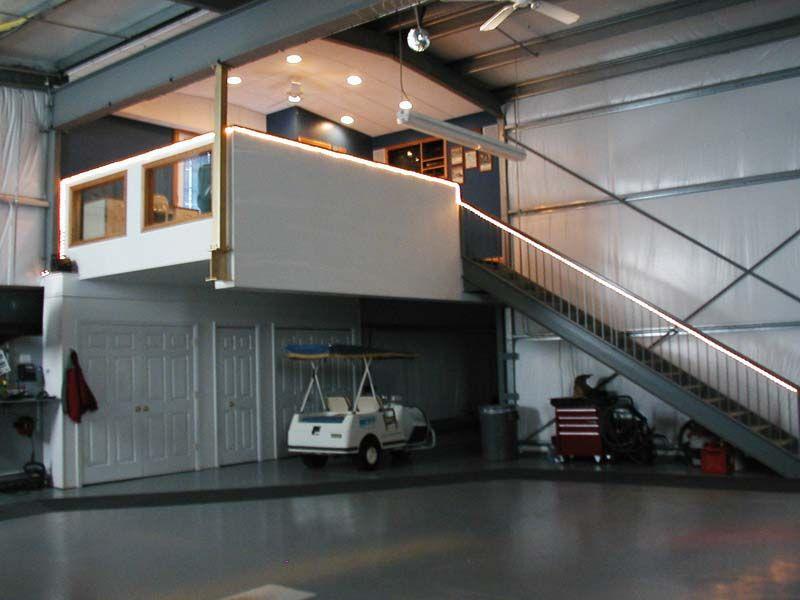 Hangar Loft Area Airplane Hangar Metal Building Home House Design
