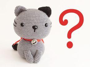 Amigurumi Gato Negro : Amigurumi gato nekori enlace a patrón amigurimi pinterest