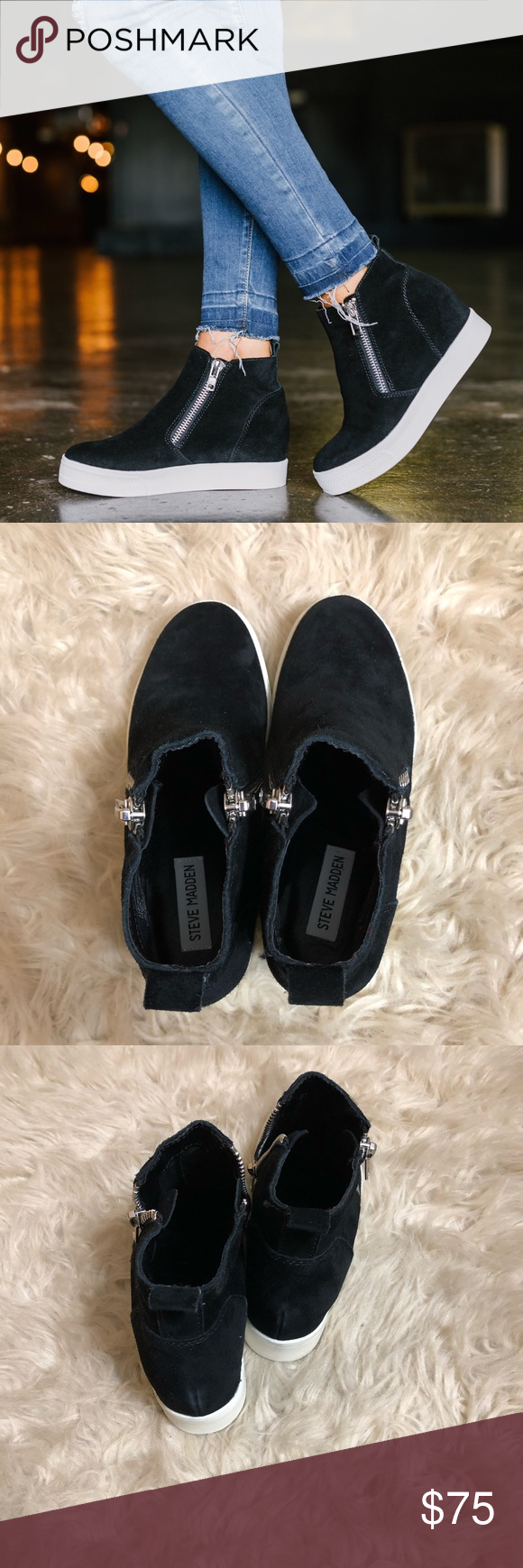 226e6614ad9 BRAND NEW Steve Madden Black Wedgies These are a pair of brand new Steve  Madden Black