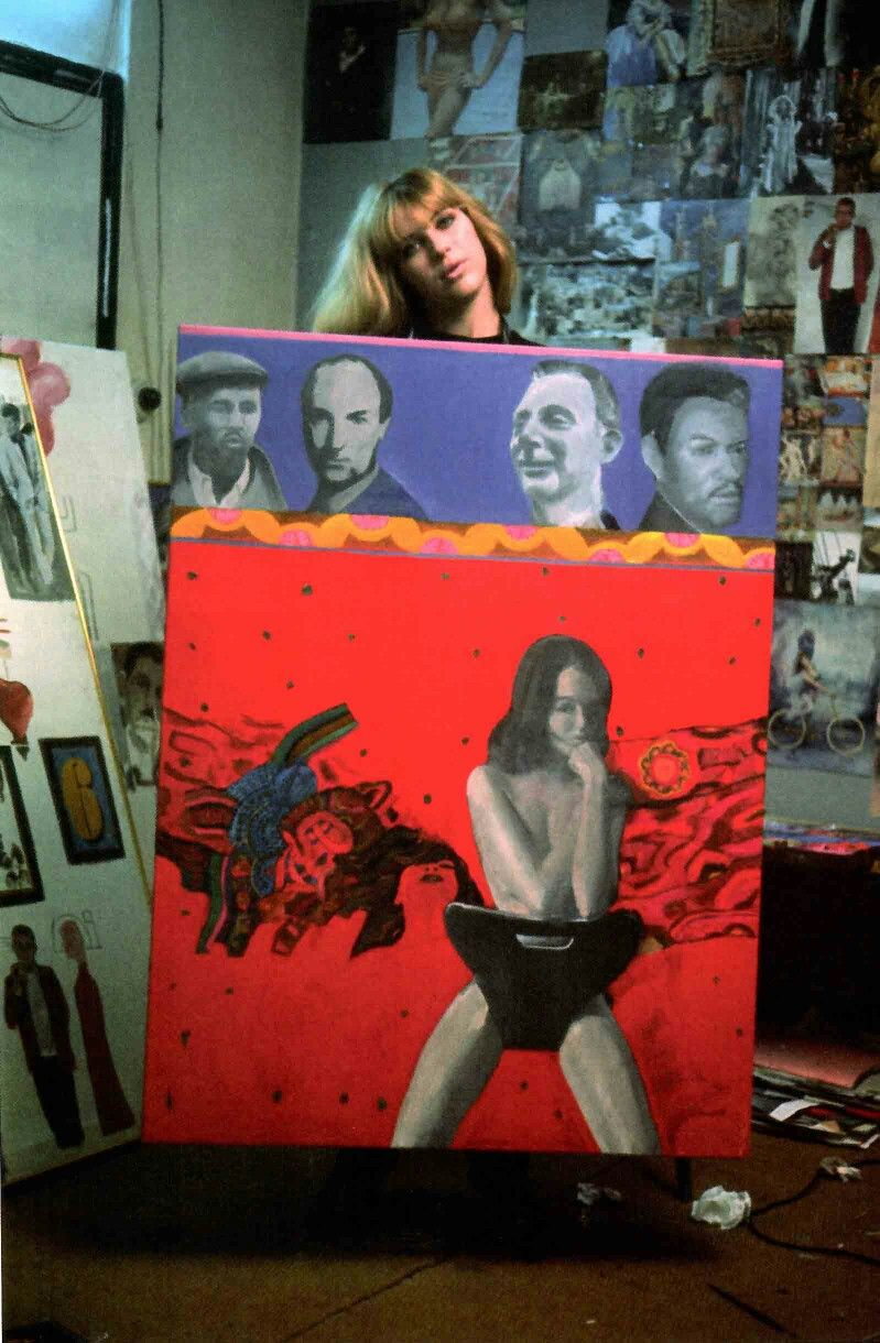 THE SCANDAL - Pauline Boty, 1963.. This painting is now missing so this  photo is the only way to see it! Pauline Boty was an actress & ar…   Pop  art, Art, Art world