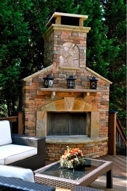 Surprising Decorative Outdoor Fireplace Made Of Stone Patio Susan Download Free Architecture Designs Grimeyleaguecom