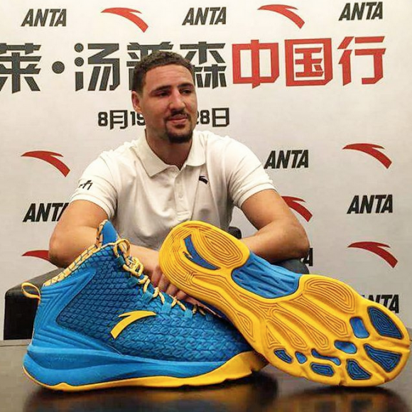 Get Your First Look at Klay Thompson s First Signature Model With ANTA-1 1aa92900546