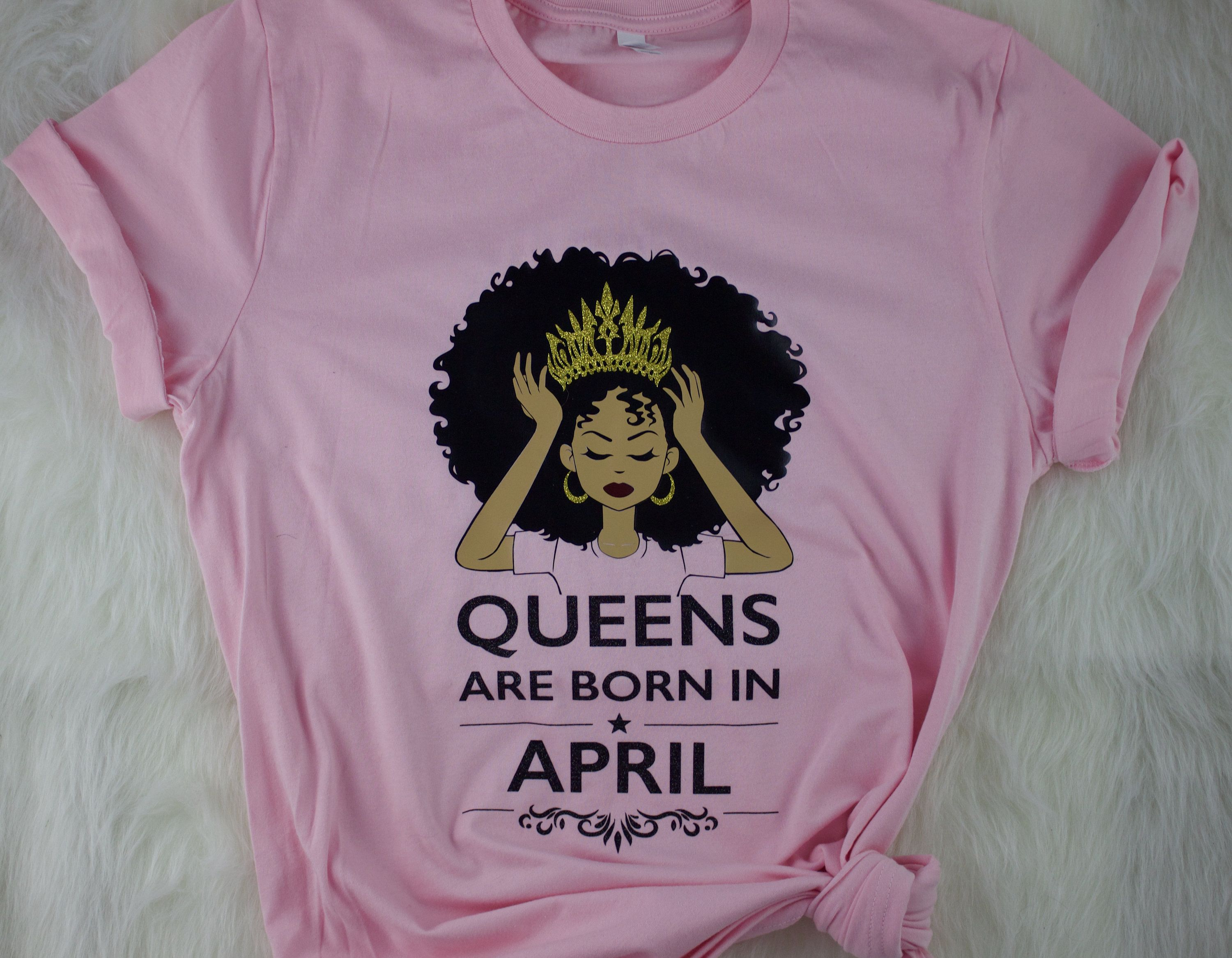 Queens Are Born Shirt, African American Shirt, Black Woman