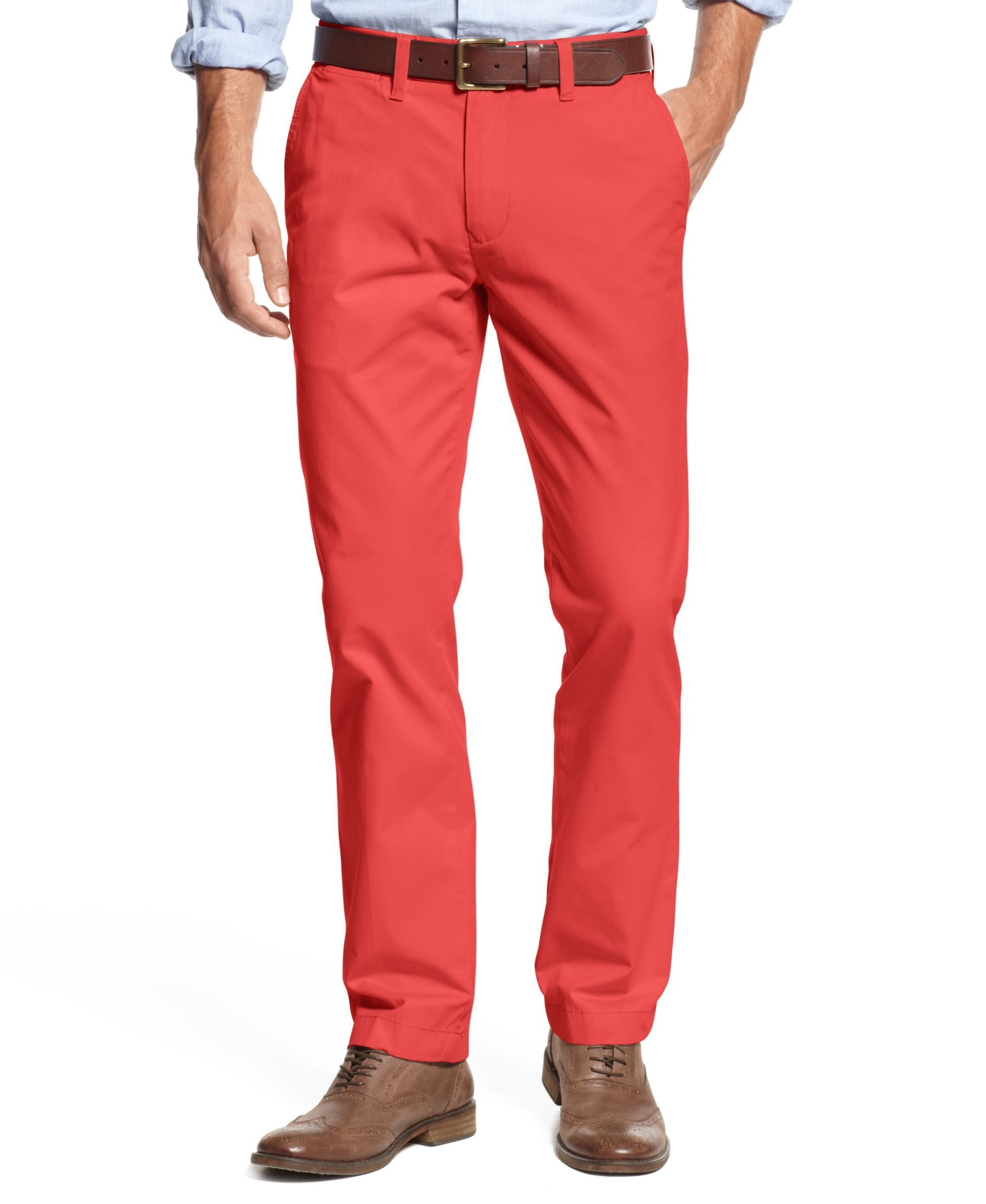 d3afafec Men's TH Flex Stretch Slim-Fit Chino Pants, Created for Macy's ...