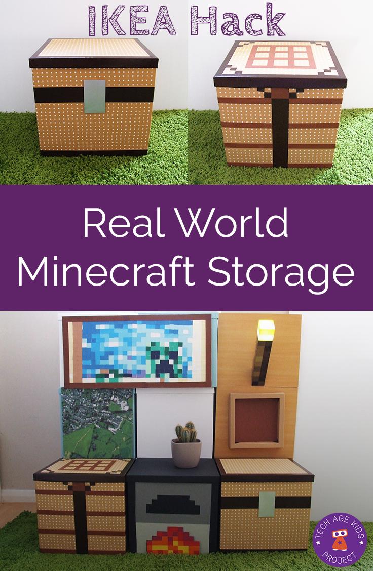 Camera Da Letto Minecraft making real world minecraft from ikea storage boxes | camera
