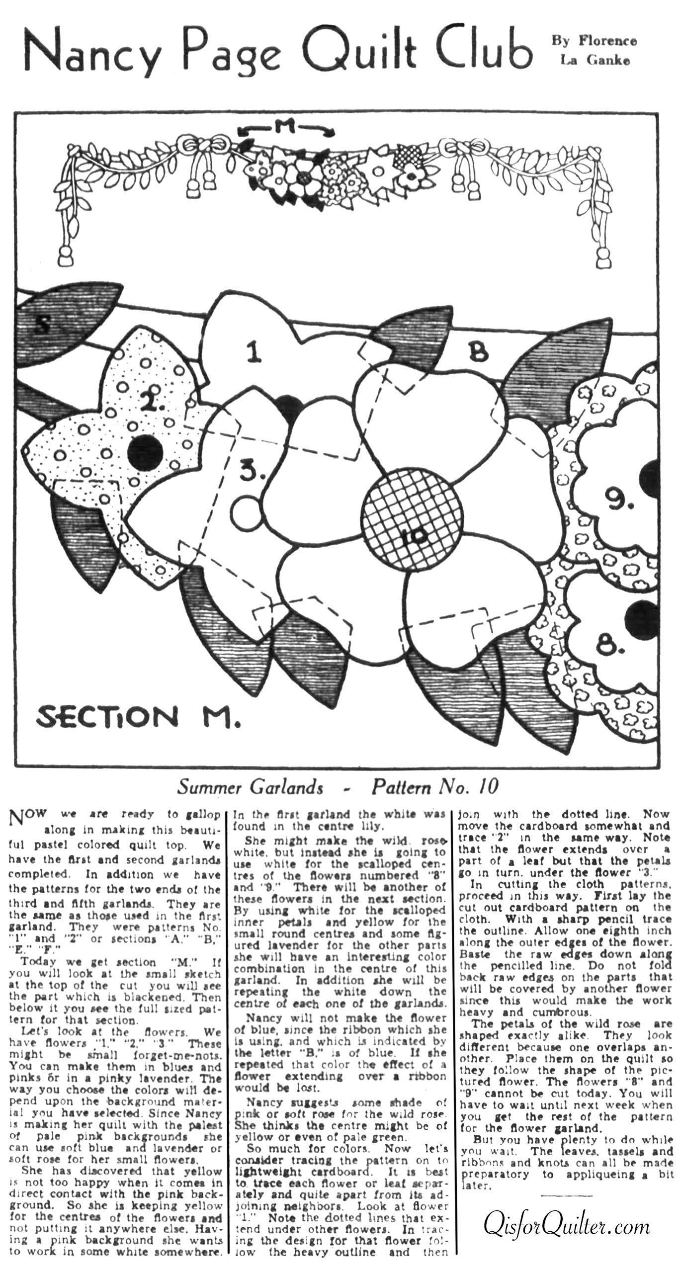 Laura Wheeler – Wreath Quilt Pattern | Laura Wheeler and Ann Cabot ...