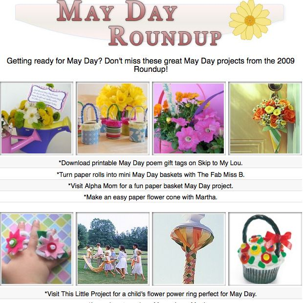 DIY May Day craft tutorials, projects, printables, recipes and