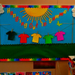 Cute And Easy Summer Themed Bulletin Board Hanging Out In The