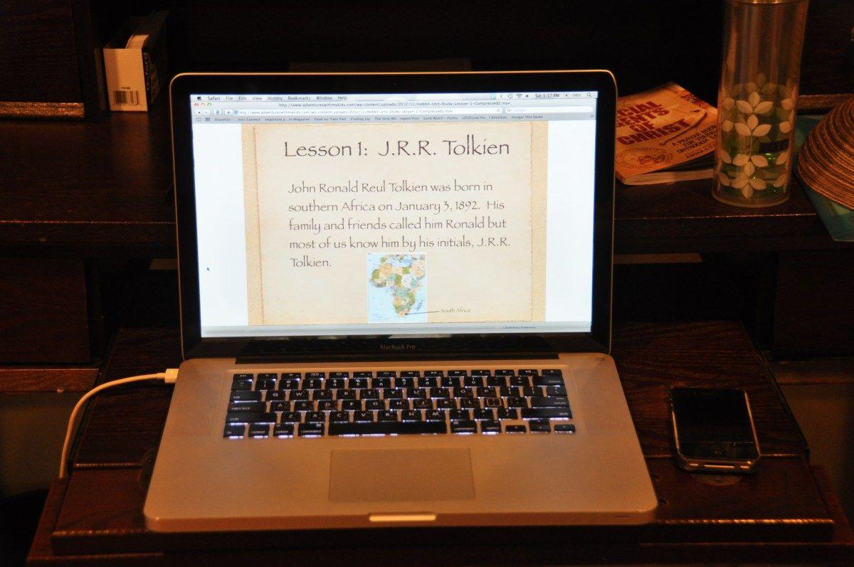 Unit Study On The Hobbit Lesson 1