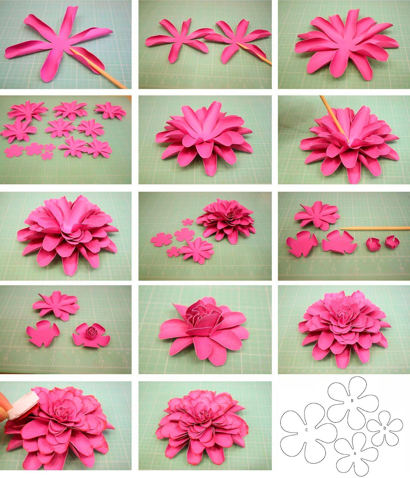 Днем, сделать цветочки на открытку из бумаги