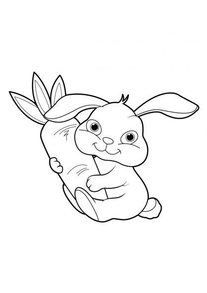 Coloriage lapin 20 tiago pinterest coloriage lapin dessin lapin et lapin dessin facile - Dessin facile lapin ...