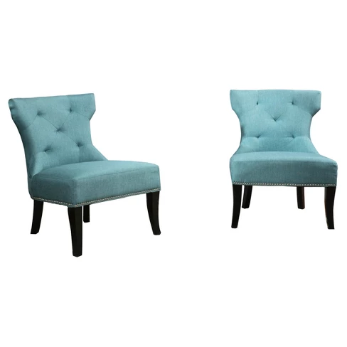Best Genevieve Studded Accent Chair Set 2Ct Christopher 640 x 480