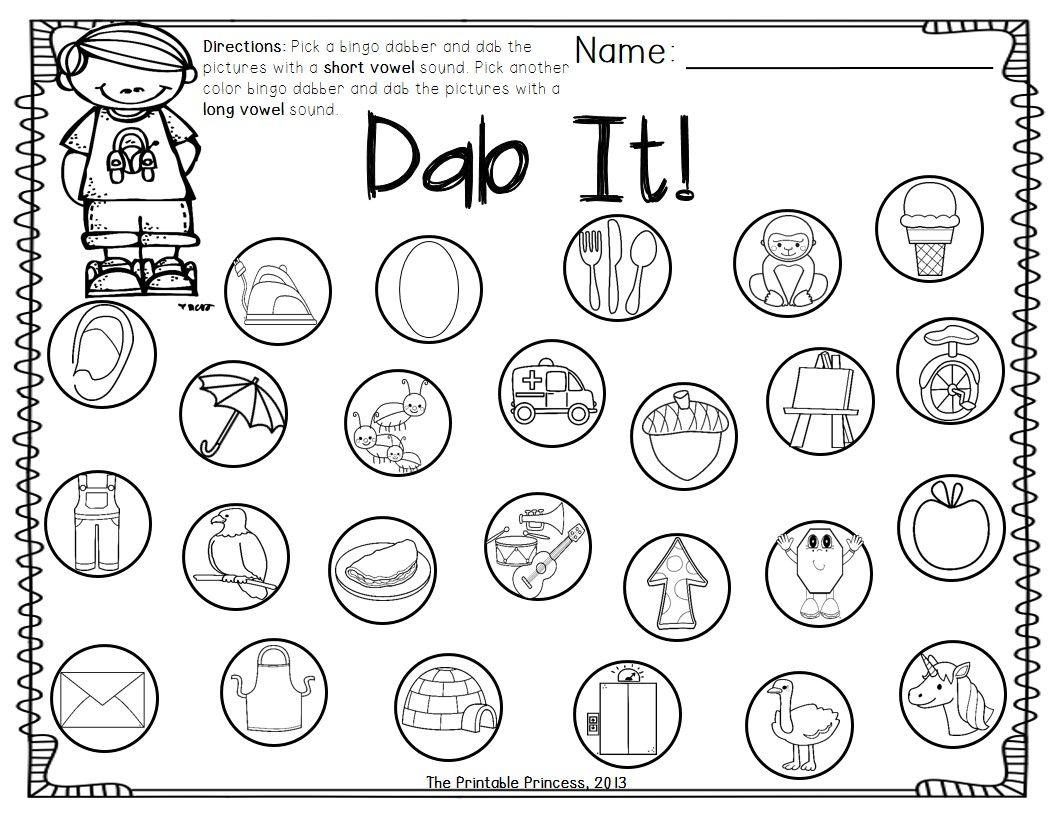 A Dab Of Learning Bingo Dabber Alphabet Number Recognition Letter Find Worksheets For