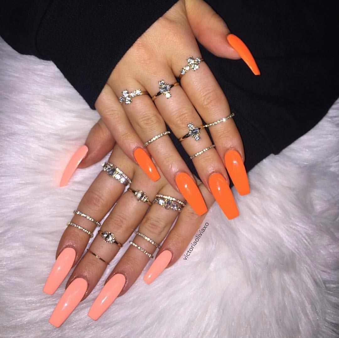 Different Colour Hands Or Comment Down Below Baddest Nails Victoriaoliviaxo Long Nails Pretty Acrylic Nails Coffin Nails Designs