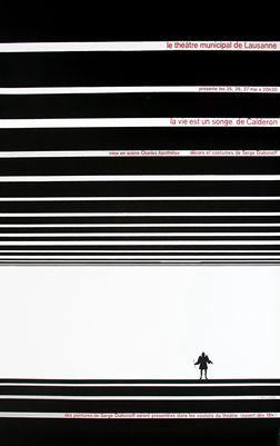Calderon La Vie Est Un Songe : calderon, songe, Songe,, Calderon, Theatre, Municipal, Lausanne, Poretti,, Aldo,, 1961., 35.5'', 50.5'', Offset, Paper., SWL12631., 50., Vintage, Posters,, Designs