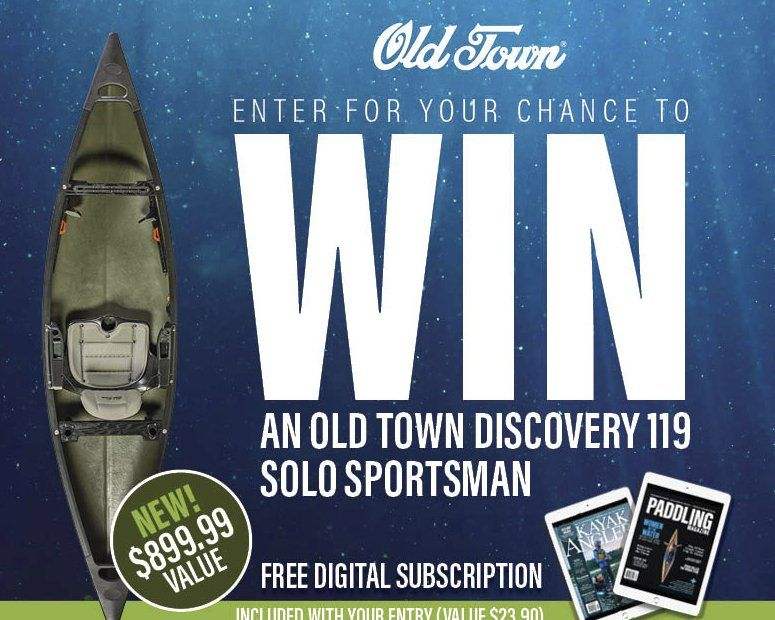 Be 1 of 5 to win a Old Town Discovery 119 Solo Sportsman