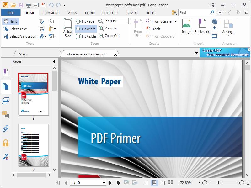 Foxit Reader Portable v9.7.1.29511 Free PDF document