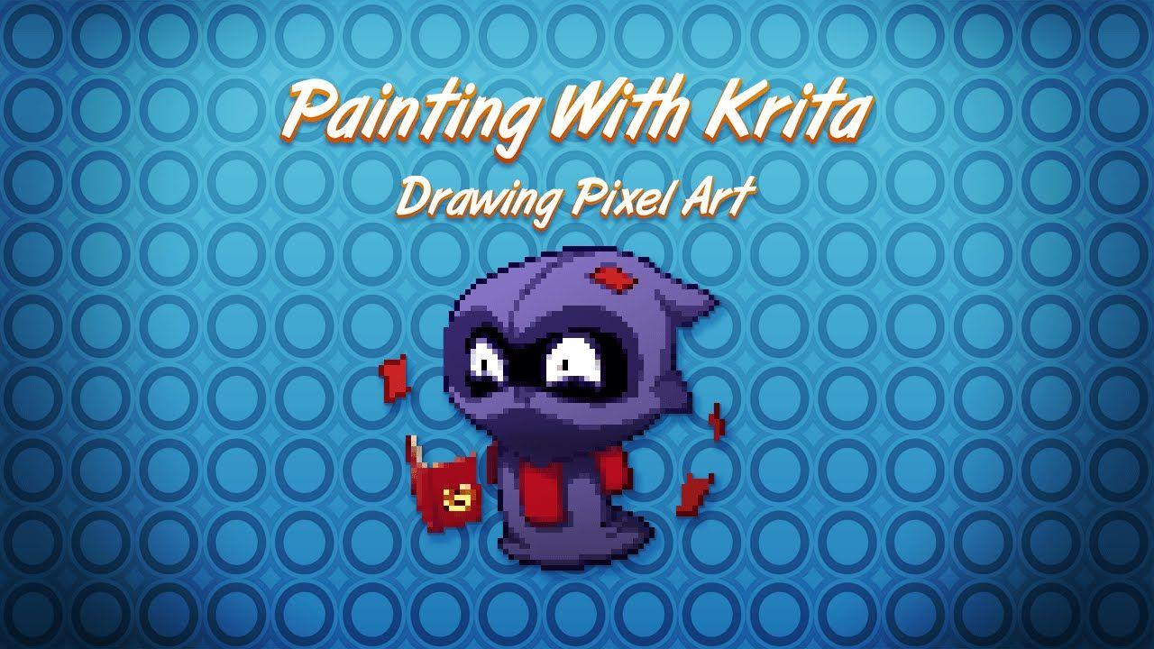 Drawing Pixel Art in Krita | Art Tutorials: Photoshop, Tablets ...
