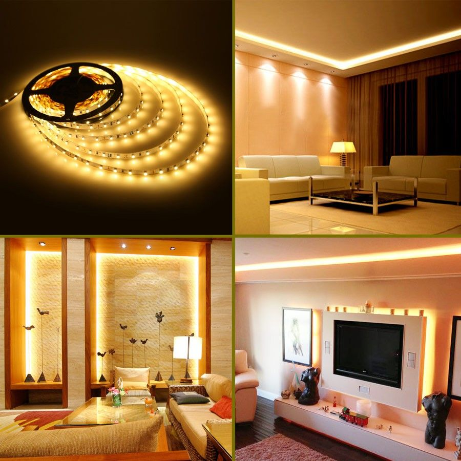 12V Waterproof Led Light Strips Awesome 164Ft Flexible Led Strip Rope Lights12V Warm White 300 Units 2018