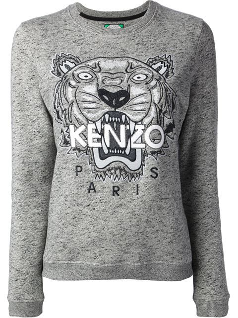 Achetez Kenzo sweat brodé Tigre en from the world s best independent  boutiques at farfetch.com. Shop 300 boutiques at one address. 68a146c3632