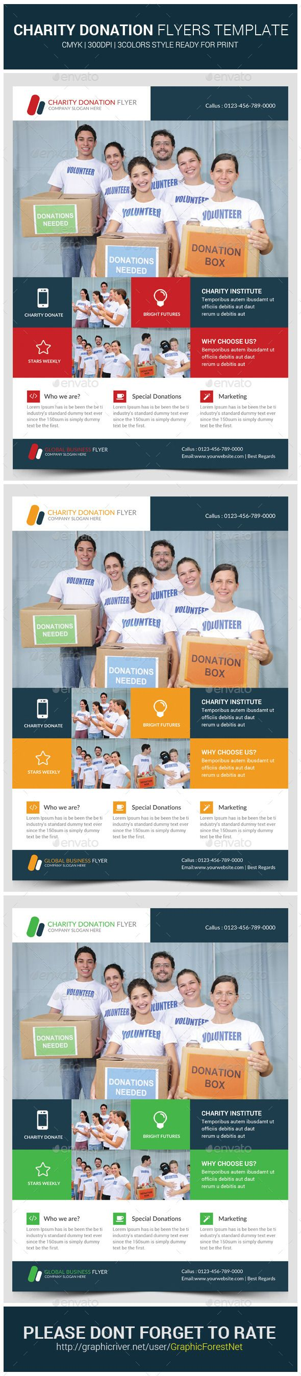 Charity Donation Flyer Template | Flyers, Flyer template and Templates