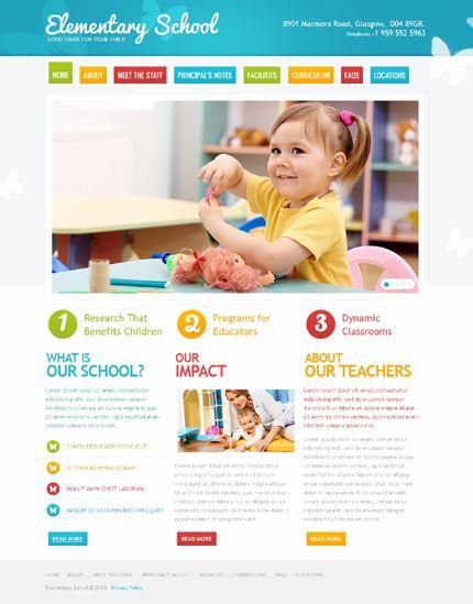 Primary School Psd Template 41767 Primary School School Website