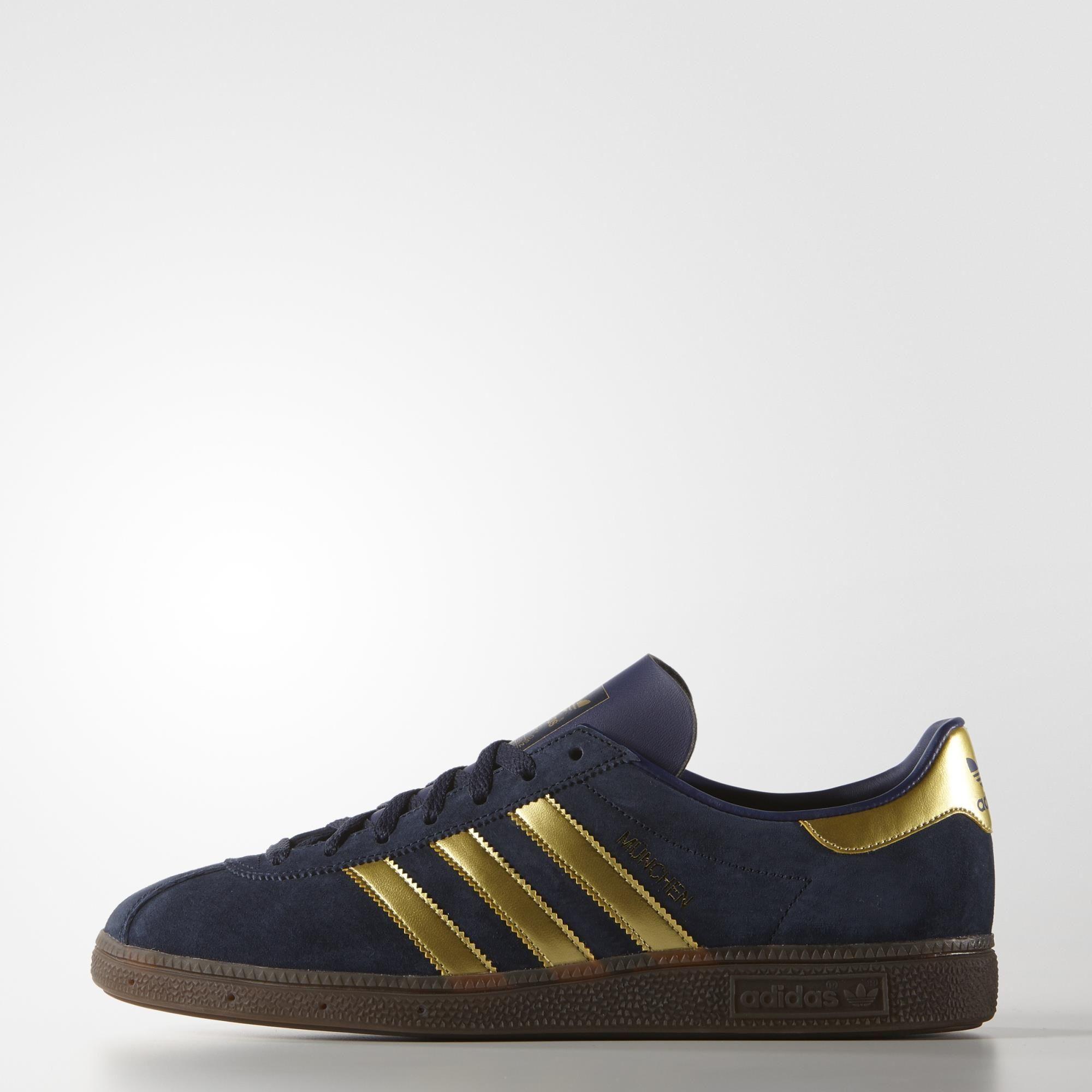 adidas München SPZL Shoes - Blue | adidas UK