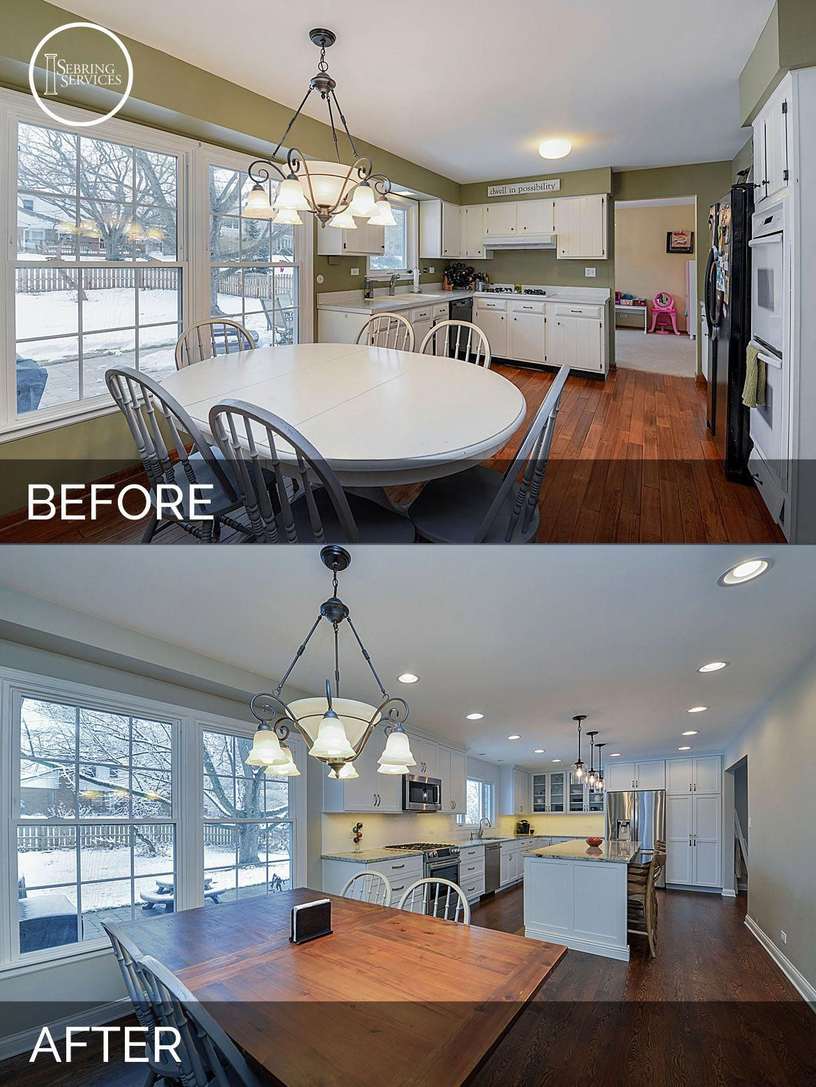 Before And After Kitchen #remodeling