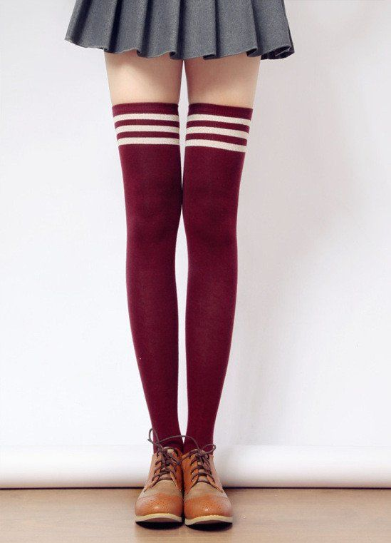 a2a1536d837  3 for 2  Taller Girls! 8 Colors Stripes Thigh High Long Socks SP153727 -  SpreePicky - 1