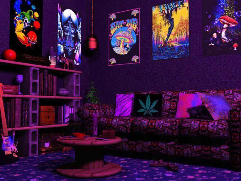 Neon Bedroom Lights trippy room   tumblr   triply   pinterest   trippy, neon lighting