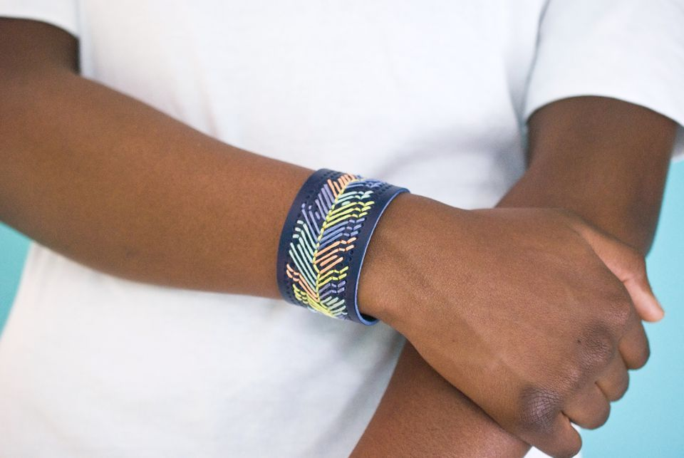 beaded Embroidery cuff tutorial
