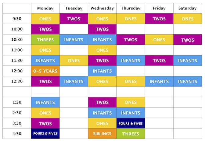 make a class schedule