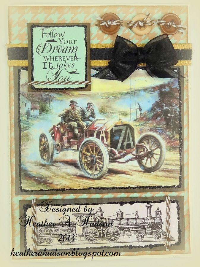 Vintage Masculine Card by Heather A Hudson