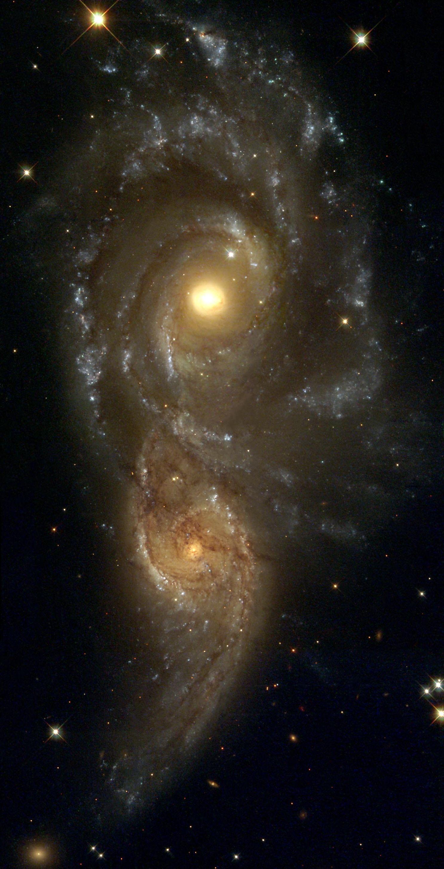 NGC 2207 and IC 2163 by John Herschel  ~ Repinned 4 U by Karen of AZdesertTrips.com