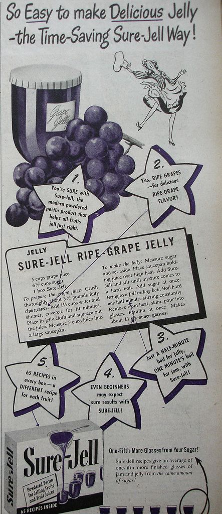 Canning Jams Jellies Sure Jell Grape Jelly 5 C Juice 6½ Sugar 1 Box Place Prepared Into Large Saucepan