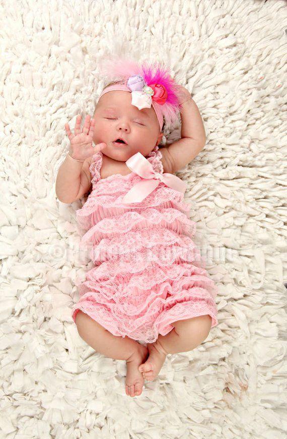05c106d5c48f Light Pink Baby Lace Romper