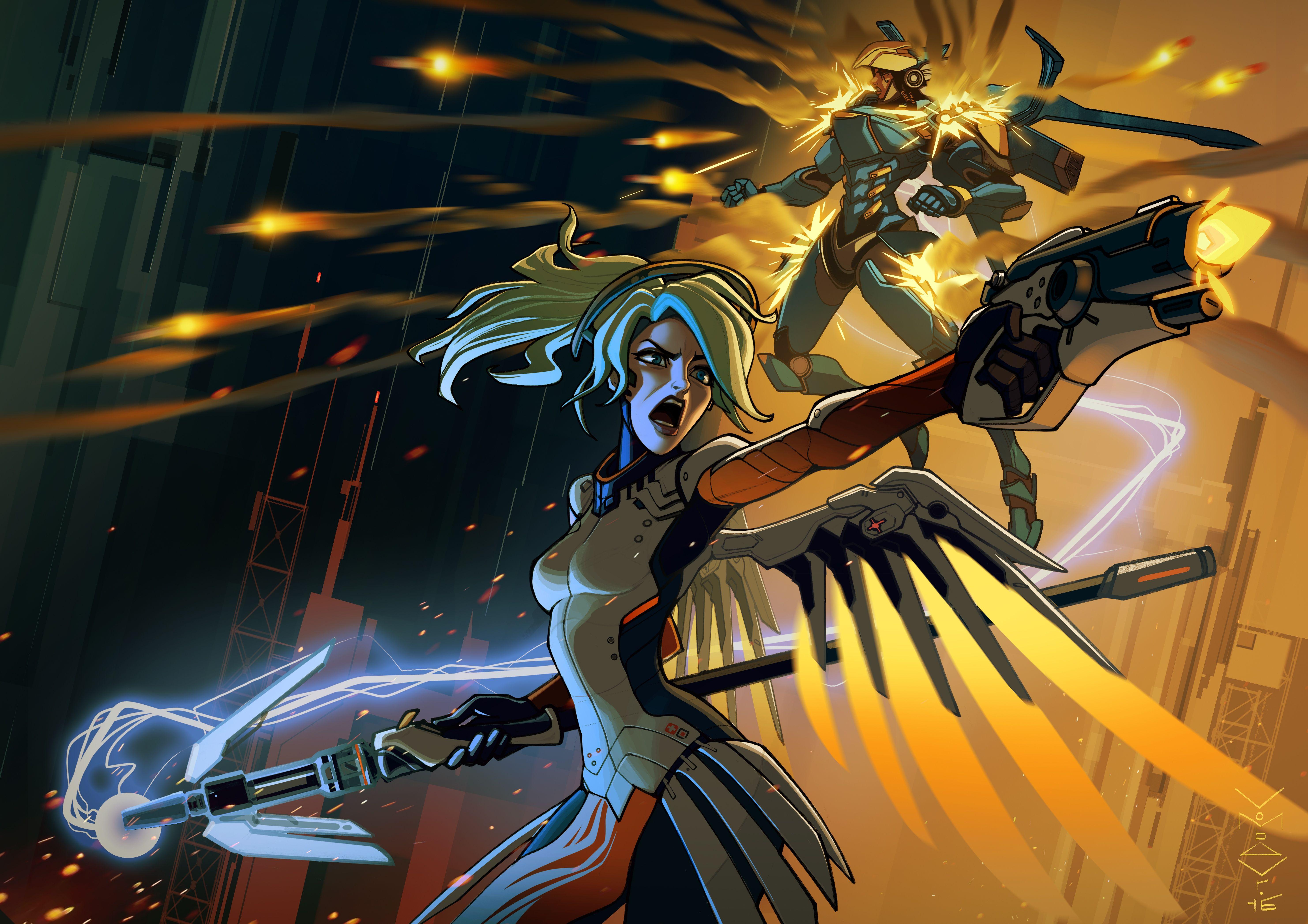 Mercy Overwatch Hd Wallpapers Backgrounds Wallpaper Overwatch Wallpapers Mercy Overwatch Overwatch Fan Art